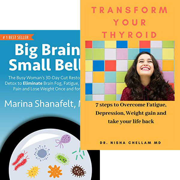 Big Brain Small Bell and Transform Your Thyroid Book Covers